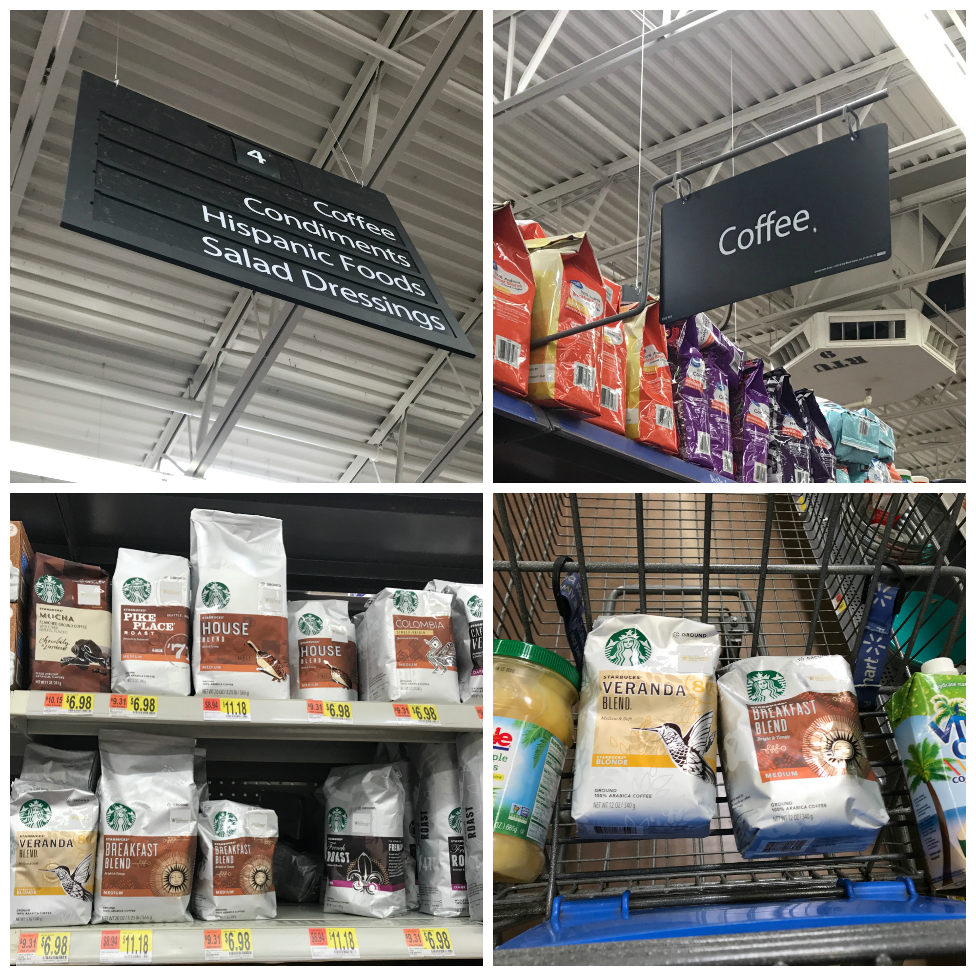 Starbucks Walmart Coffee Product Collage