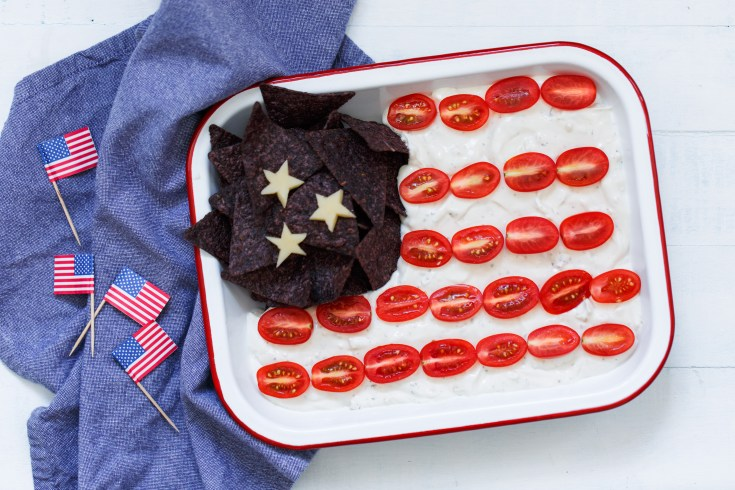 HELUVA GOOD! PATRIOTIC FLAG DIP RECIPE