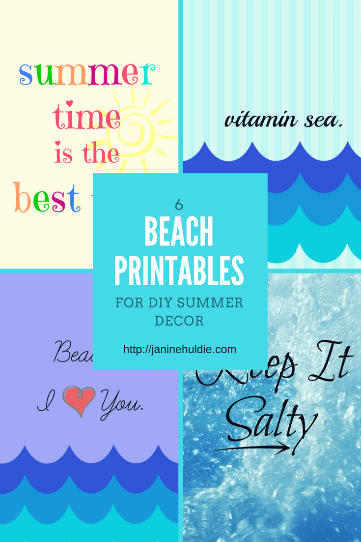 image about Printable Beach Pictures named 6 Seaside Printables for Do-it-yourself Summer season Decor TSSBH - COAM