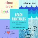 6 Beach Printables for DIY Summer Decor TSSBH