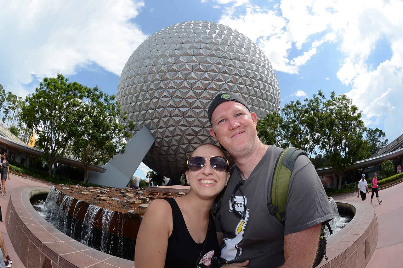 Us at Epcot in Summer 2017
