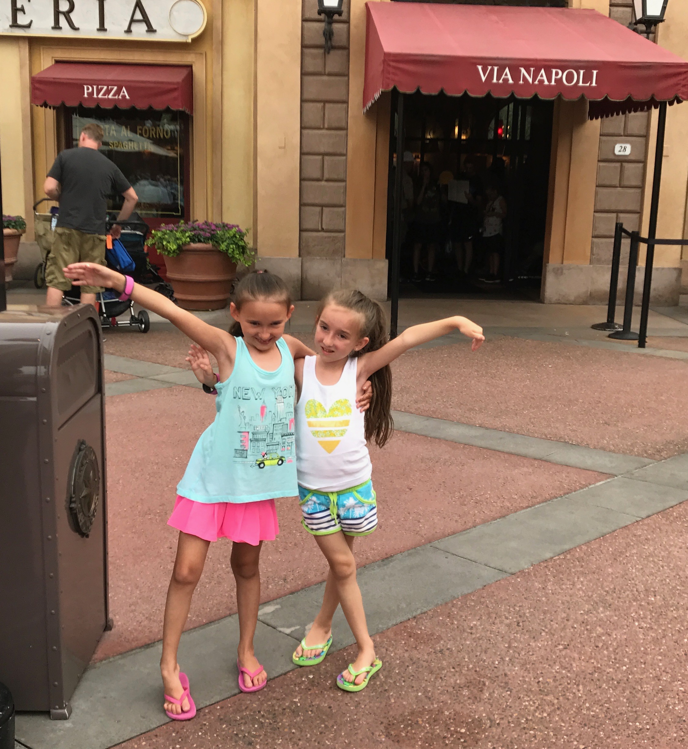 Flip Flop Wearing at Epcot In Italy at the World Showcase