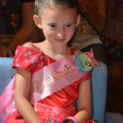 Emma at Disney Summer 2017 dressed as Princess Elena