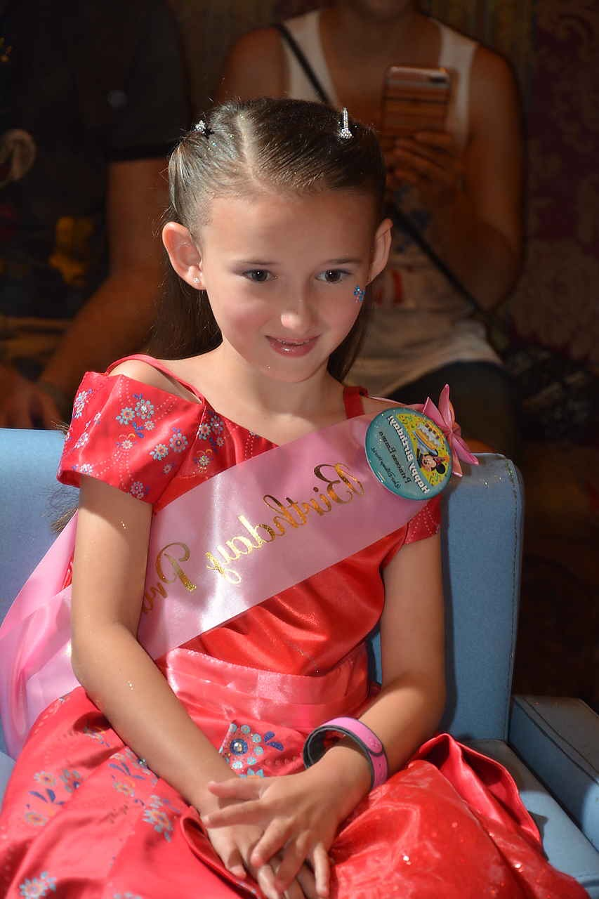 Emma at Disney Summer 2017 dressed as Princess Elena