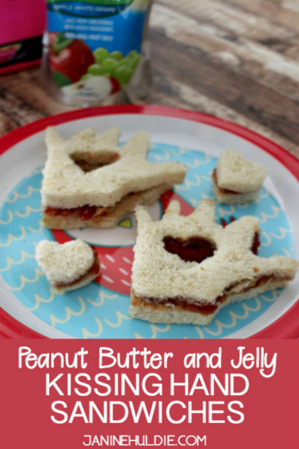 PEANUT BUTTER AND JELLY KISSING HAND SANDWICH RECIPE