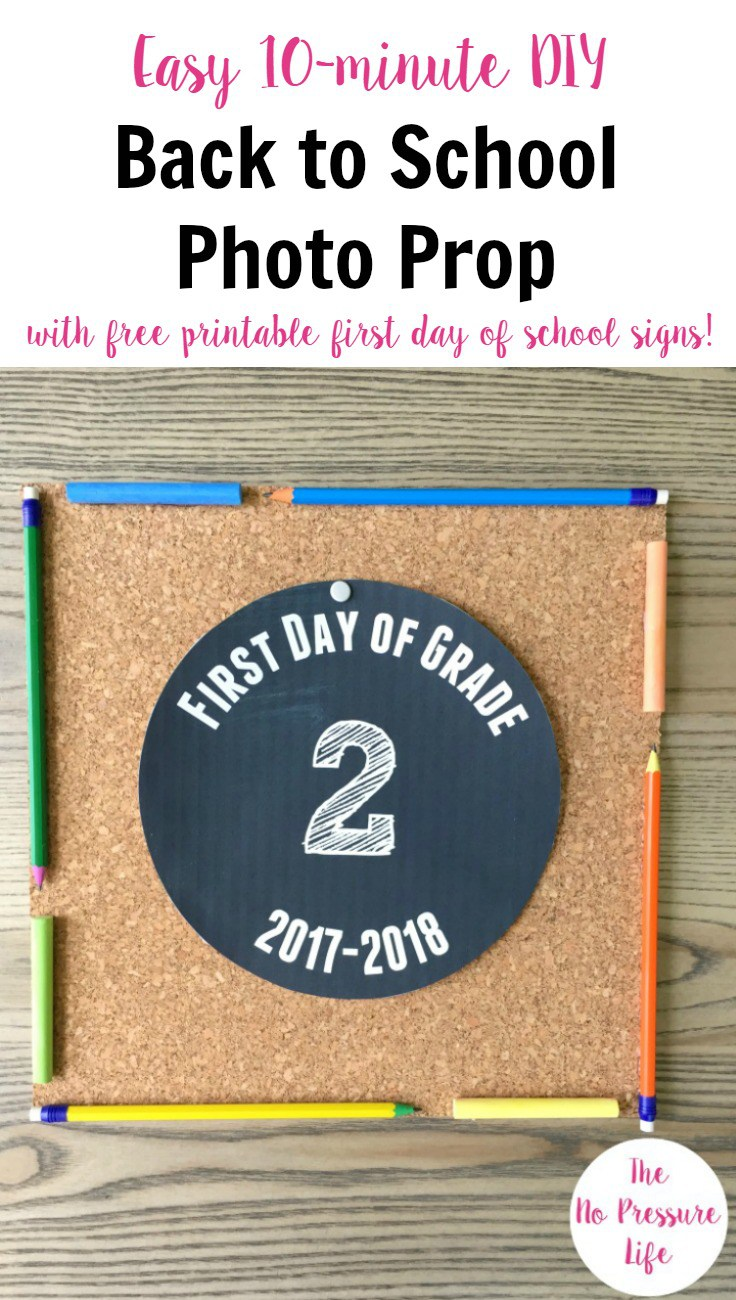 Easy Back to School Photo Prop