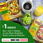 Moe's Breakfast Bowls Buy One Get $1 OFF at Walmart