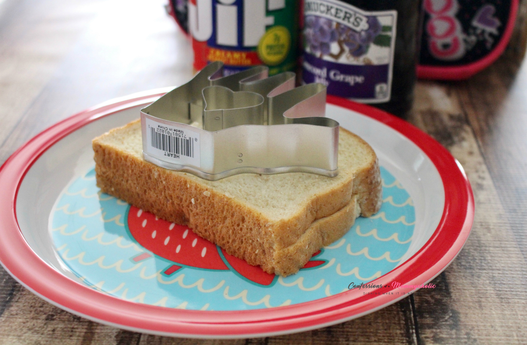 Supplies for Kissing Hand Sandwich