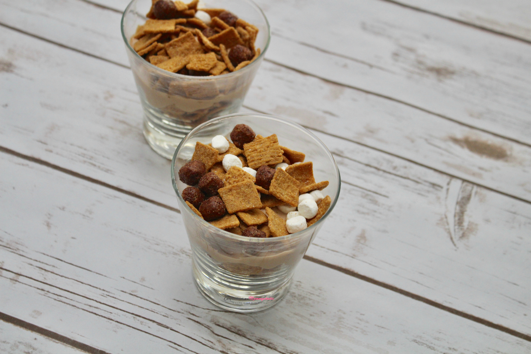 Layer 3 of S'mores Breakfast Parfait Cups