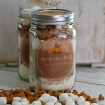 Pumpkin Spice Hot Chocolate Mix in a Jar