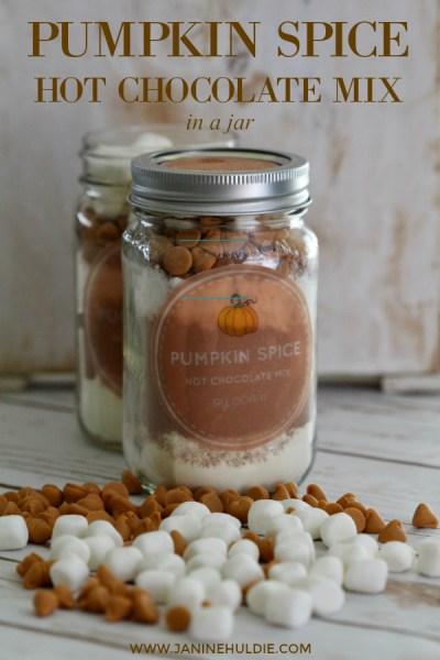 Pumpkin Spice Hot Chocolate Mix in a Jar Short Pin