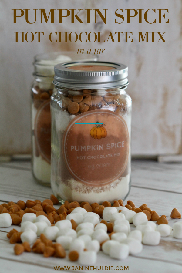 Pumpkin Spice Hot Chocolate Mix in a Jar Short Pin