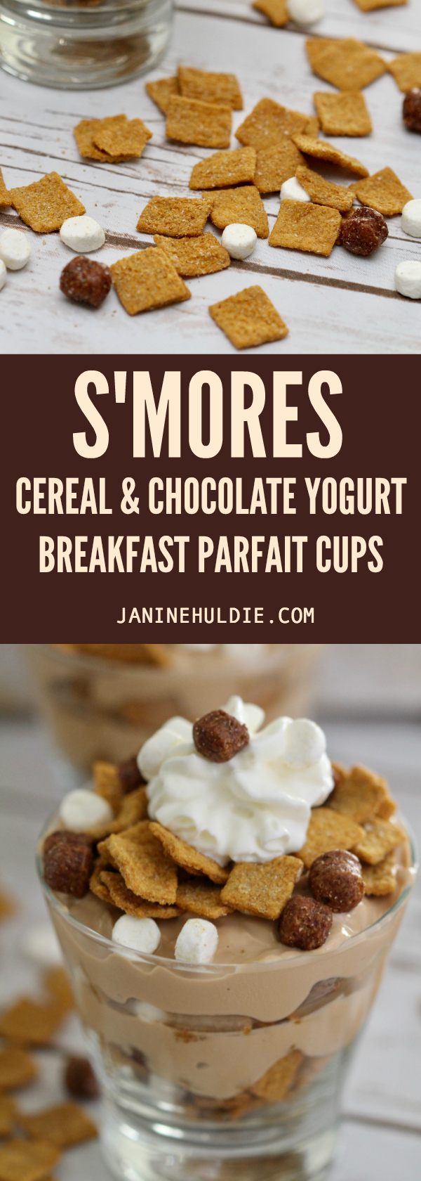 Smores Cereal Parfait Cups Long Pin