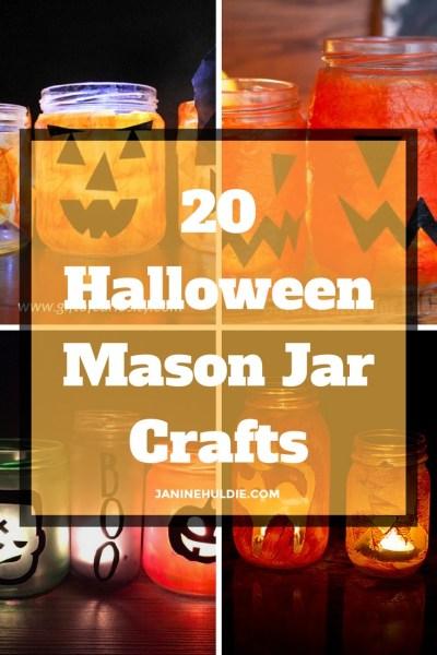 20 Halloween Mason Jar Crafts