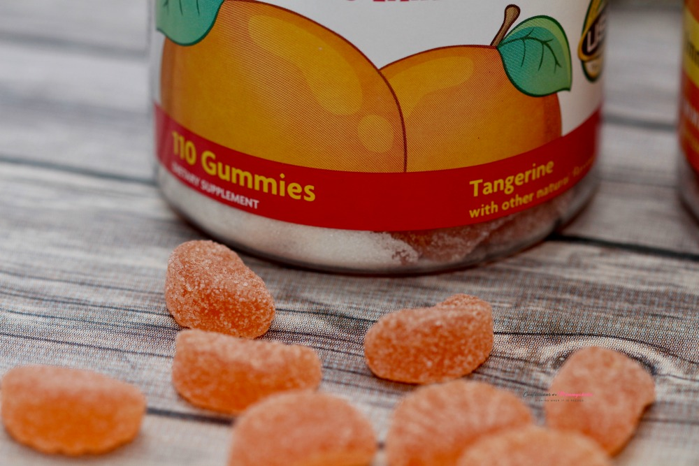 Closeup of Gummy Vitamin C and Bottle