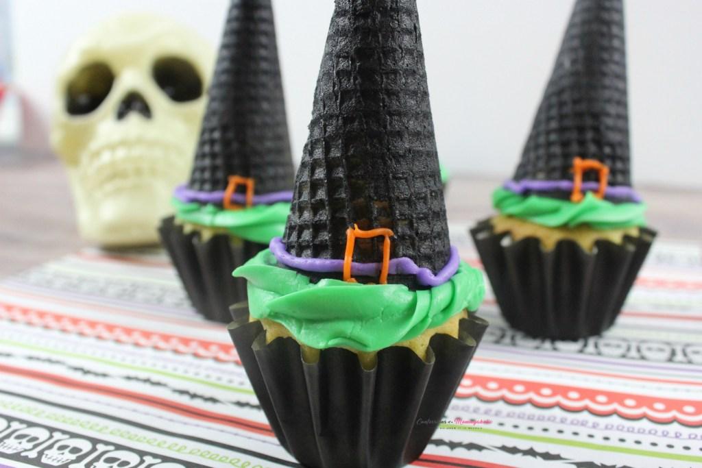 Halloween Witch Hat Cupcakes Recipe Horizontal