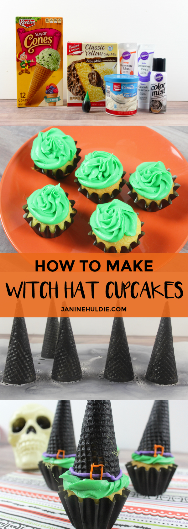 How to Make Witch Hat Cupcakes