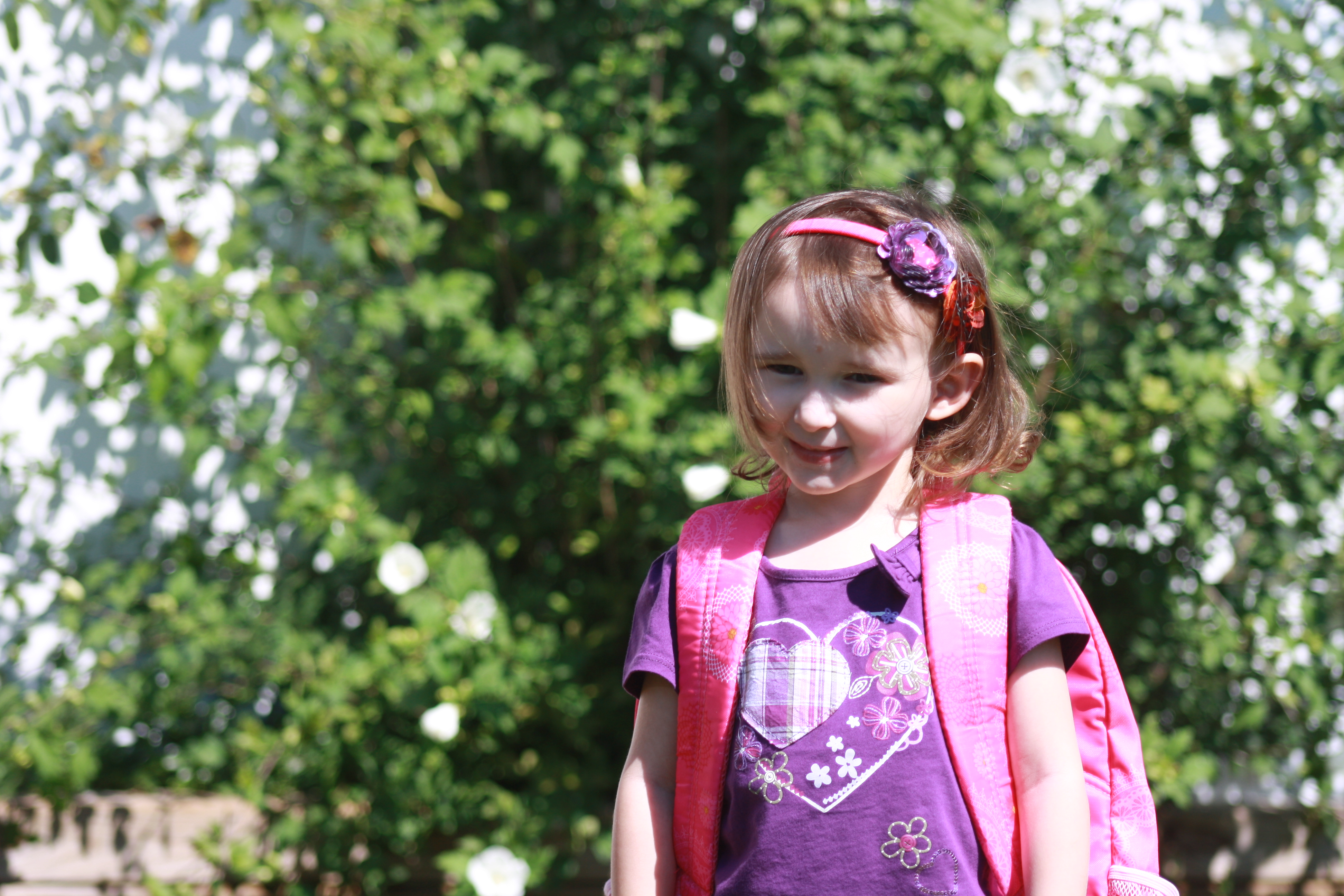 Emma going to pre-school at 3