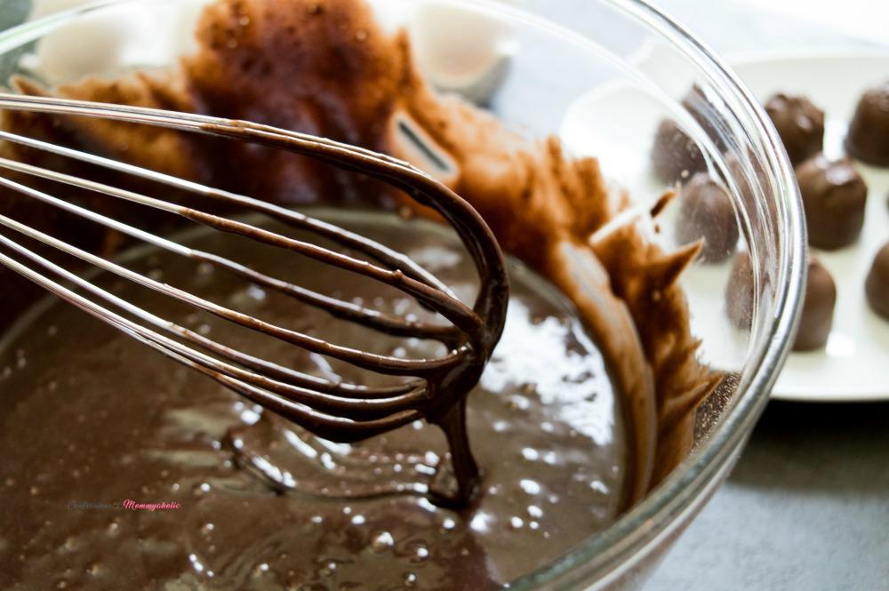 Chocolate Orange Cherry Brownie Truffles Step 2