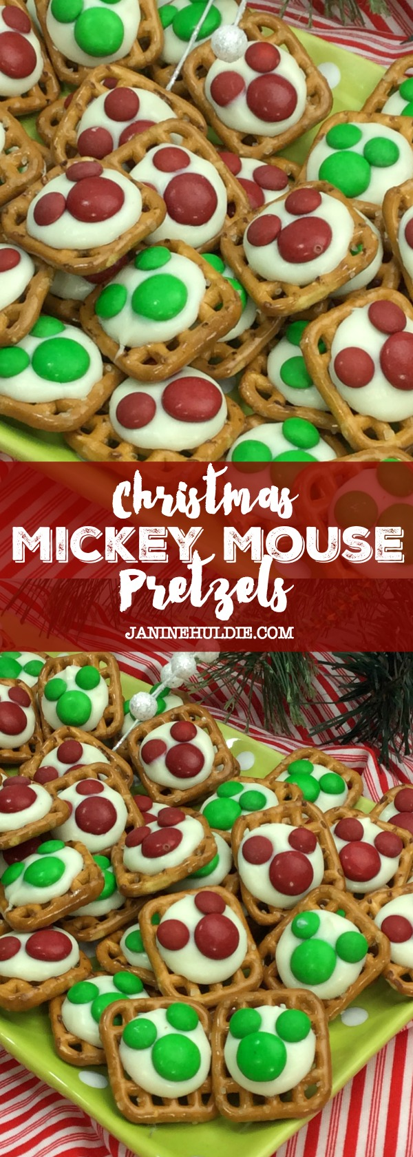 Christmas Mickey Mouse Pretzels