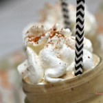 Closeup of Eggnog Frappe