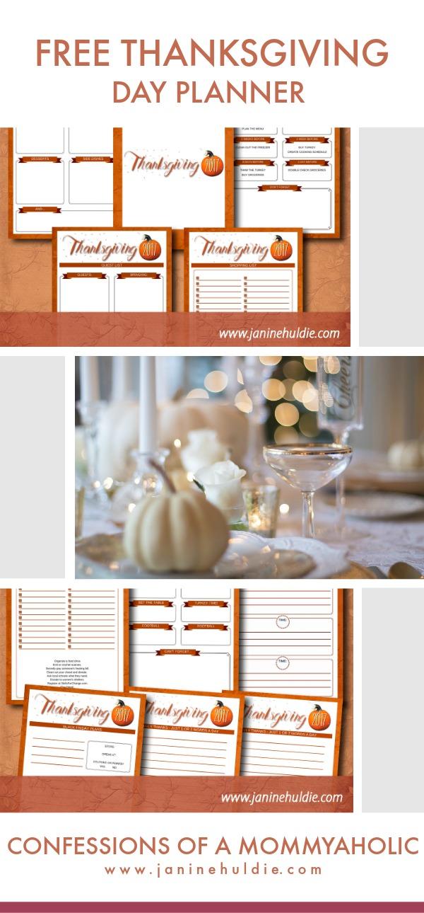 Free Thanksgiving Planner Long Pin