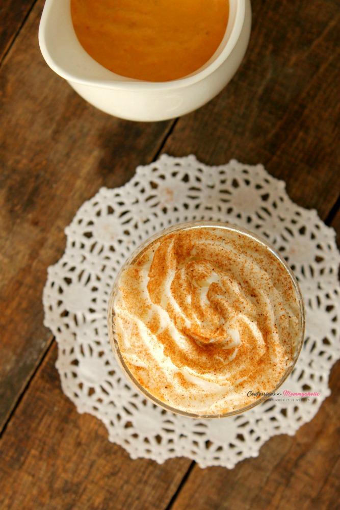 Overhead View of Pumpkin Spice Latte