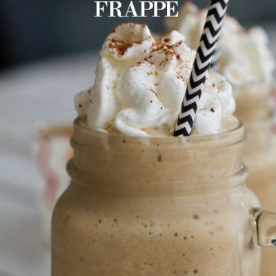 The Easiest Holiday Eggnog Frappe Recipe