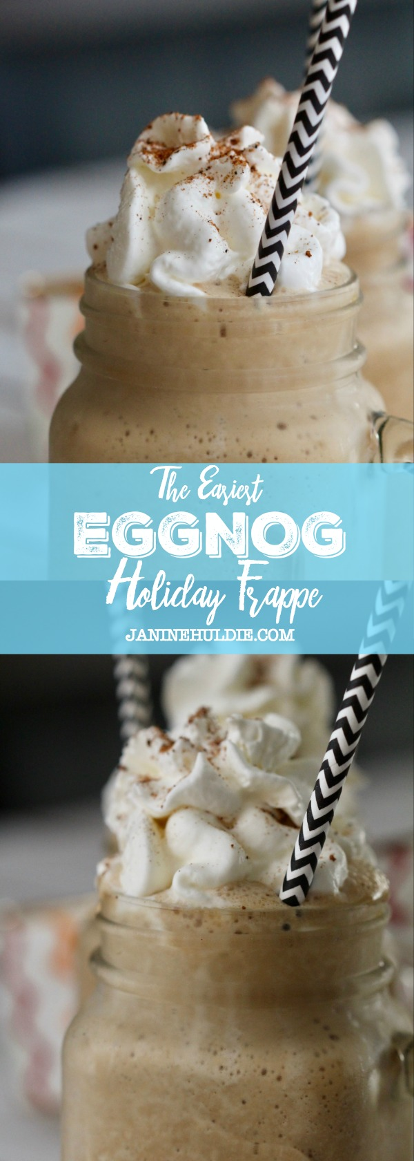 The Easiest Eggnog Holiday Frappe