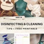 4 Easy Cold & Flu Season Disinfecting and Cleaning Tips + FREE Printable
