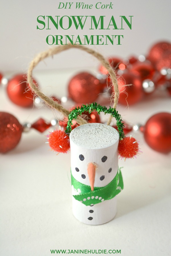 Diy Wine Cork Snowman Ornament This Mom S Confessions