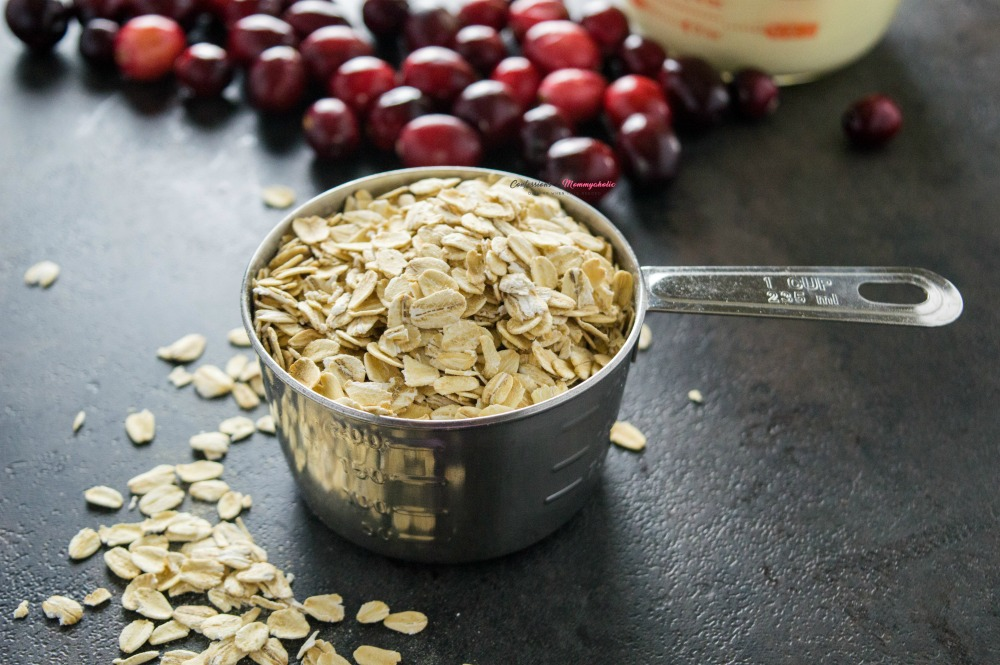 Oats for Easy Overnight Cranberry Eggnog Oatmeal Recipe
