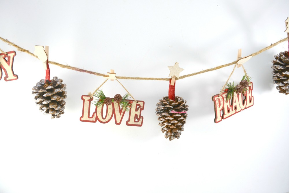 Supplies for Rustic Pinecone Garland 3