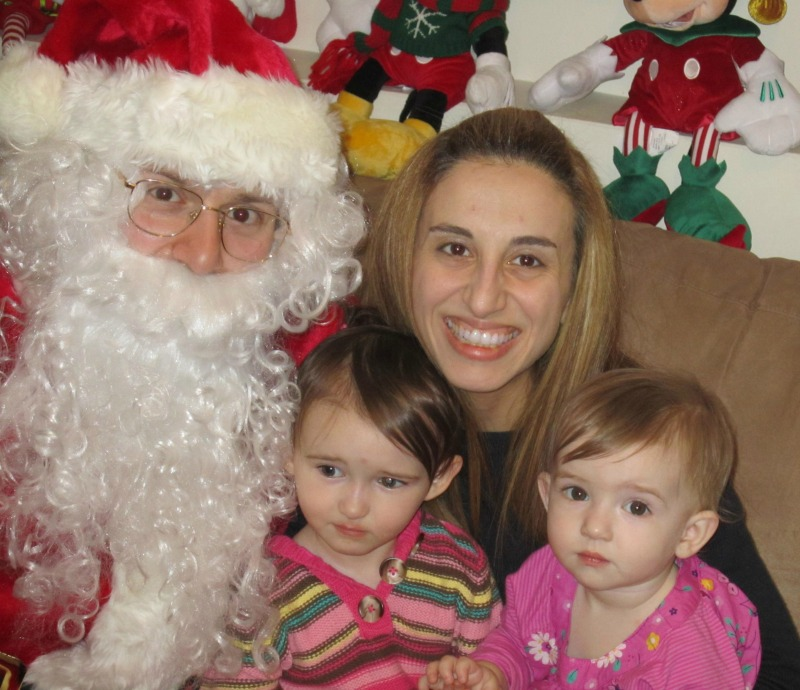 The Girls and I with Santa when they were babies