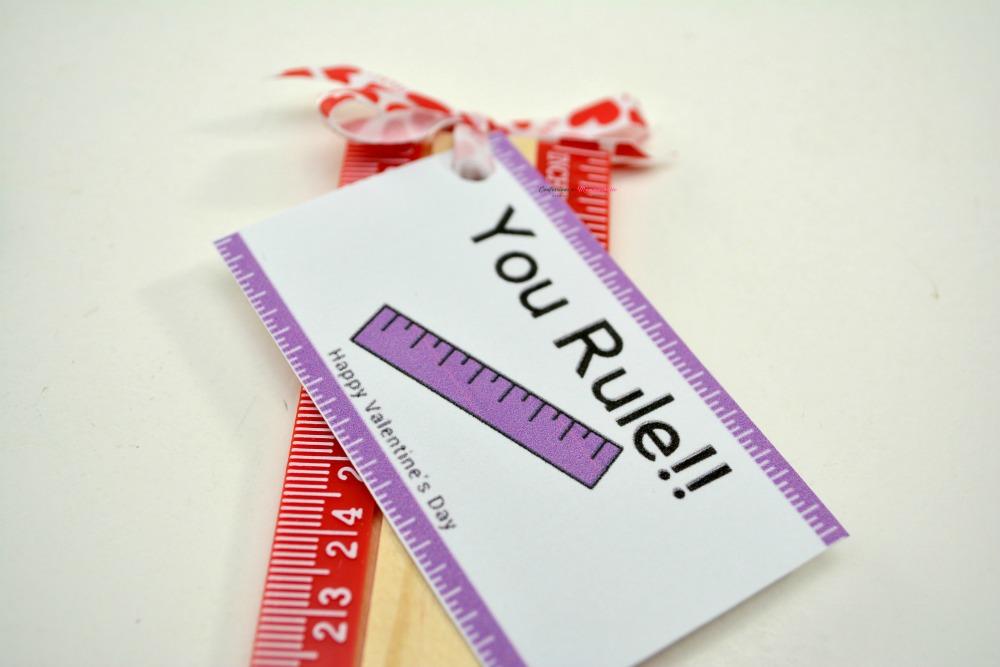 Closeup of You Rule Valentine