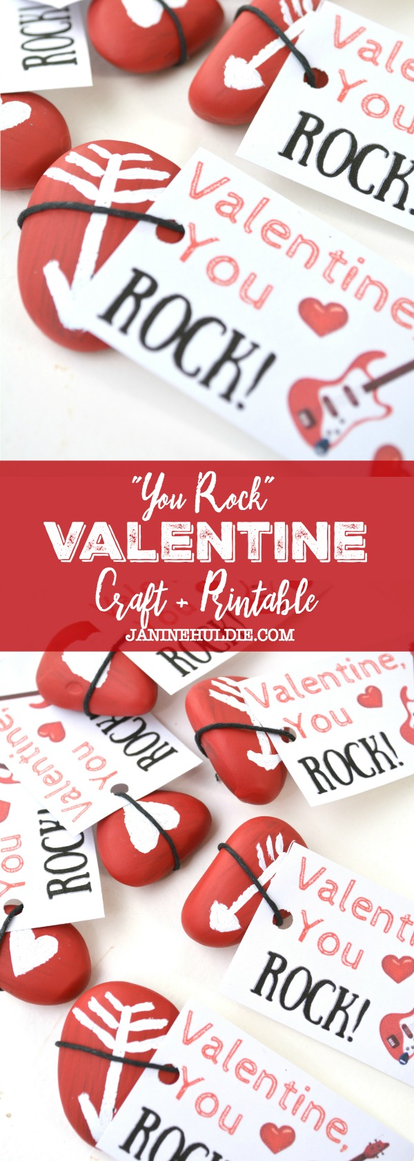 photo about You Rock Valentine Printable identify Uncomplicated and Exciting By yourself Rock Valentine Youngsters Paintable Craft