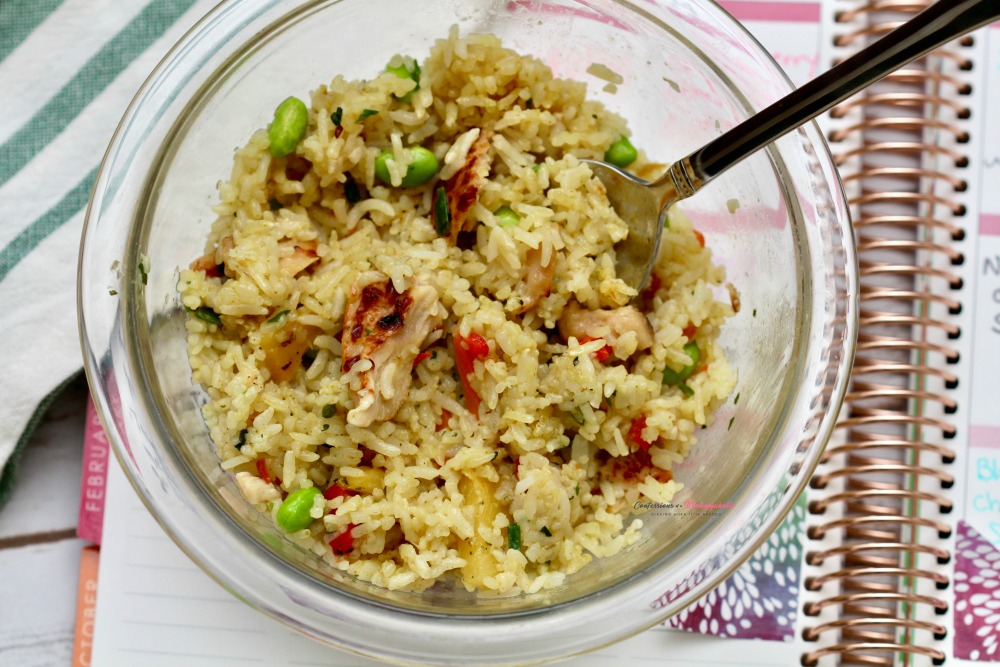 Ling Ling Thai Style Rice in Bowl over Planner
