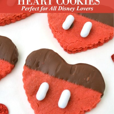 Mickey Mouse Heart Cookies Featured Image