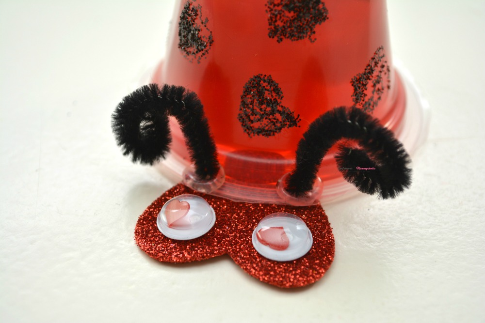 Step 7 Closeup for Ladybug Fruit Cups Snack for Kids