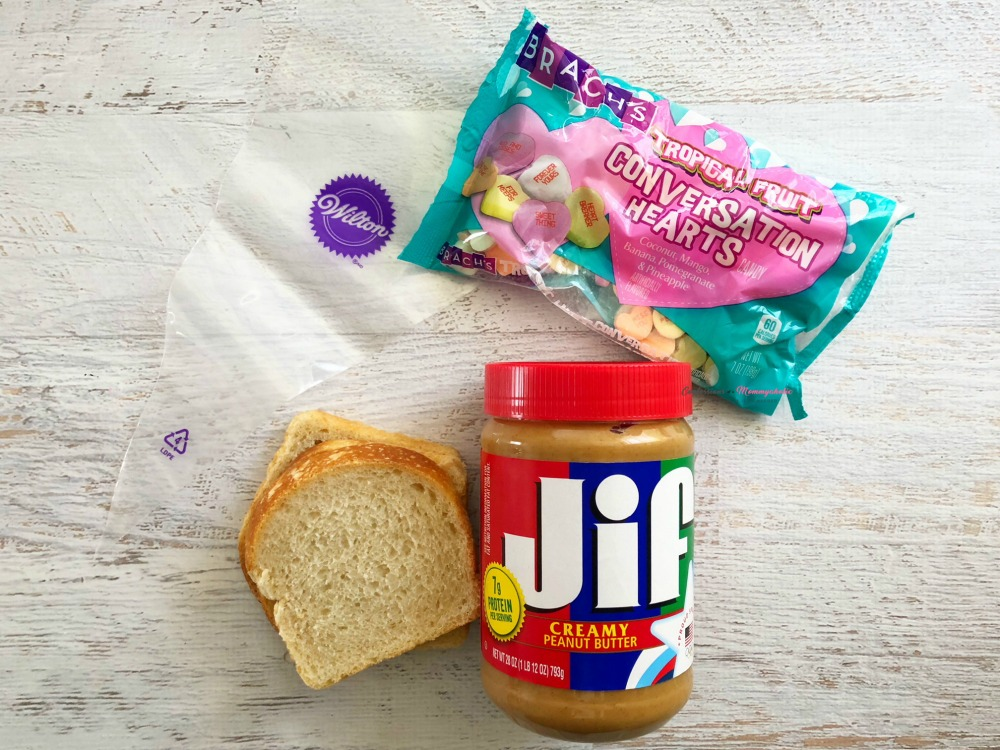 Supplies for Valentine Tic Tac Toe Bread Recipe