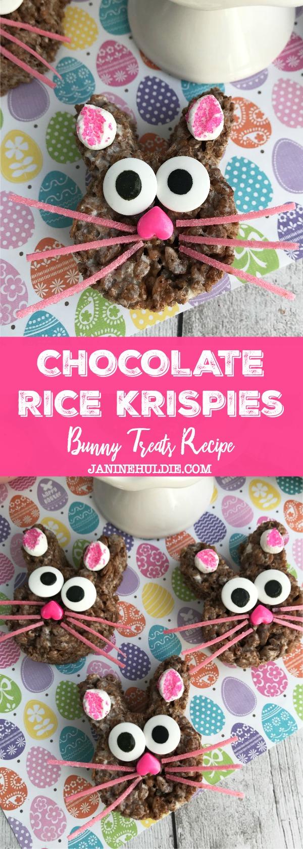 Chocolate Rice Krispies Bunny Treats Recipe