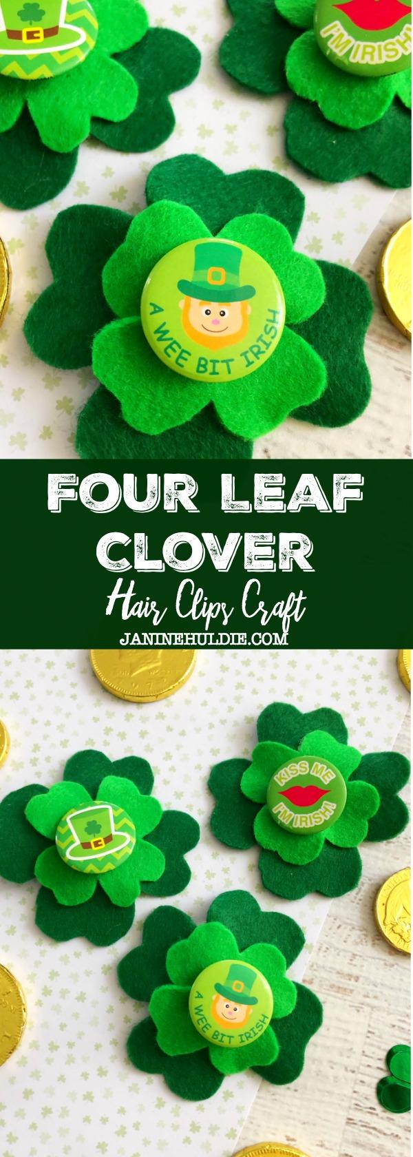Four Leaf Clover Hair Clips Craft