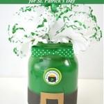 Leprechaun Mason Jar Craft for St. Patrick's Day