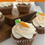 Yummy, Healthier Mini Carrot Cake Cupcakes with Cream Cheese Frosting