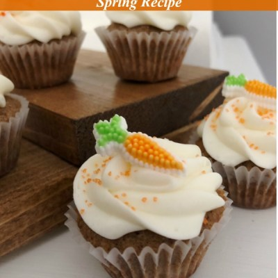 Mini Carrot Cake Cupcake with Cream Cheese Frosting Featured Image