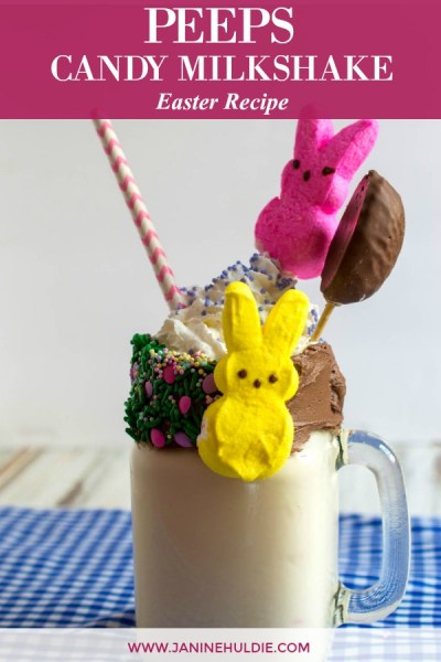 Peeps Candy Milkshake Recipe Featured Image