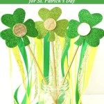 Sparkly Shamrock Wand DIY Kid's Craft for Luck