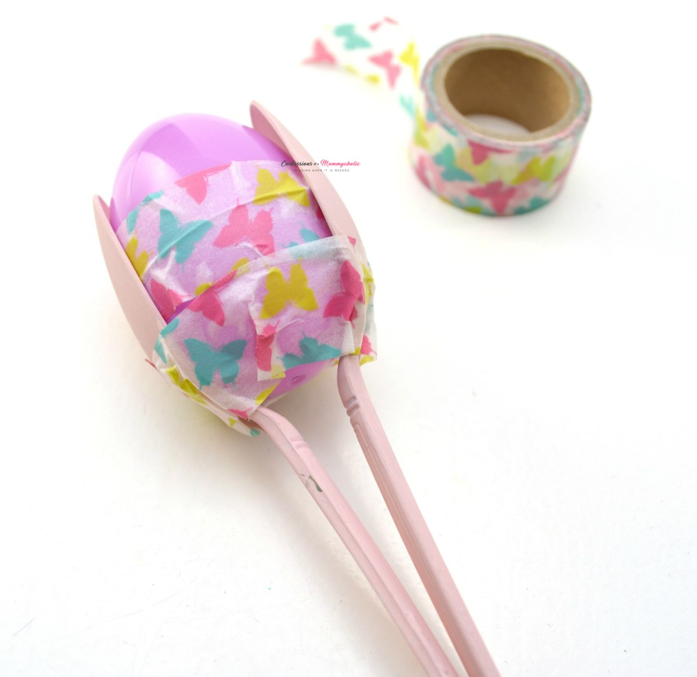 Washi Tape Easter Egg Maracas Craft for Kids Step 4