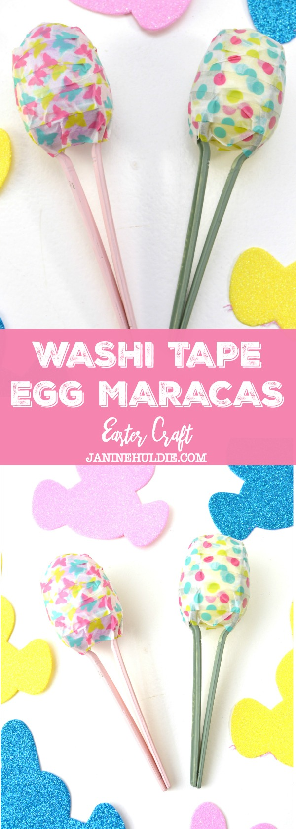 Washi Tape Egg Maracas Craft