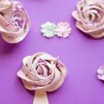 Purple Flower Meringue Cookies Recipe Horizontal 1